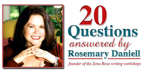 20 Questions for Rosemary Daniell by Gayla Crosby