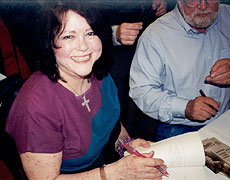 Rosemary signing books with Terry Kay